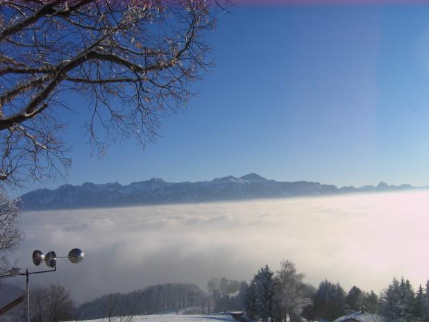 La mer de brouillard, hiver 2009